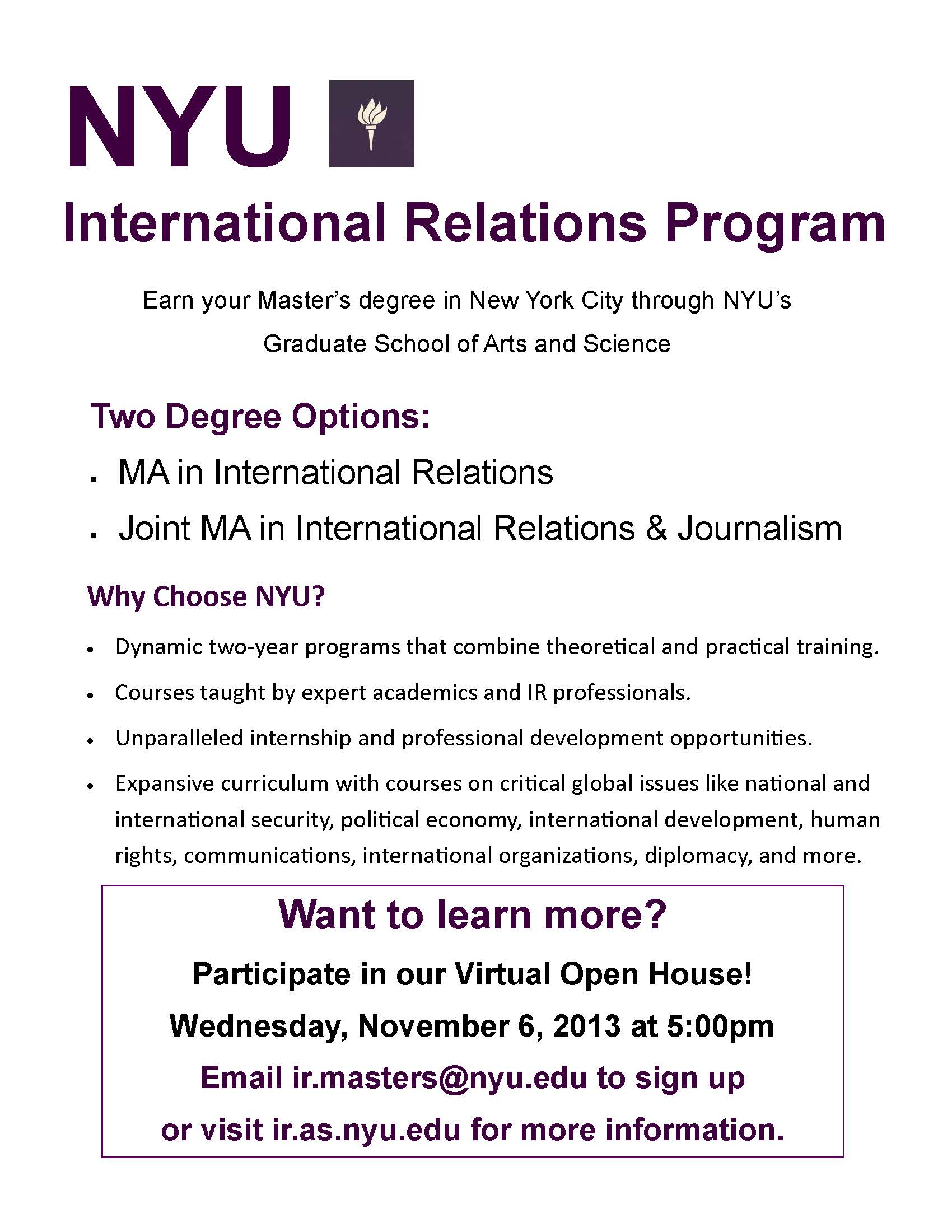 nyu cover letters