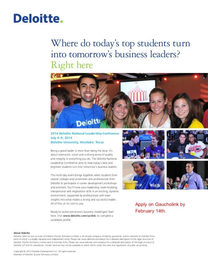 2014 DNLC Flyer- Deloitte
