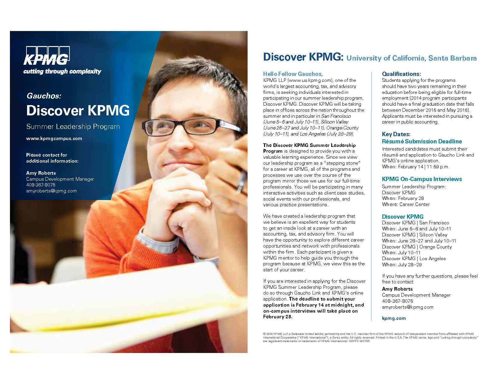 KPMG Has 2 Great Summer Programs