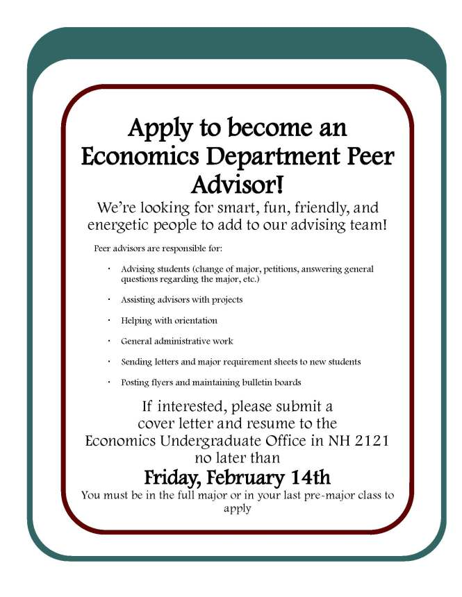 Peer Advisor Flyer