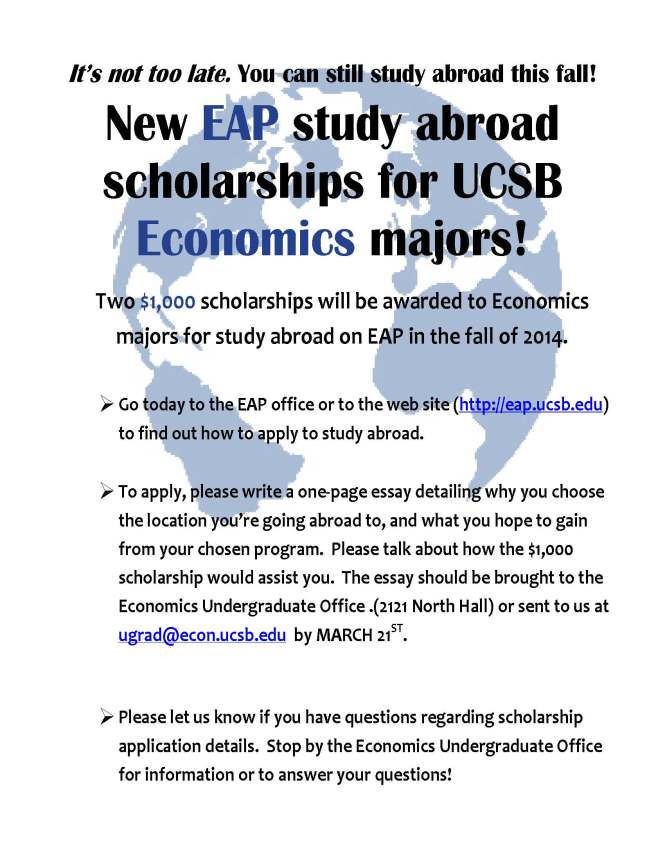 Economics scholarship S14