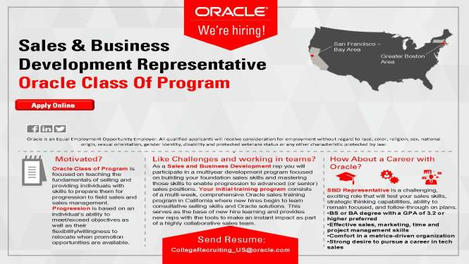 UCSB Oracle Sales Academy EV